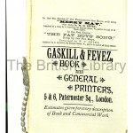 Gaskill & Fevez, printers. Little Red Riding Hood, 1883. Printers' own ad within
