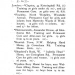 Helping Hand Home. Listing in- Feeblemindedness in Children of School Age by C. Paget Lapage. Manchester Uni. Press, 1911