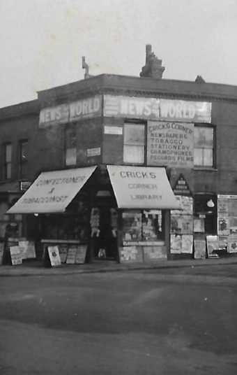 Crick's Corner in later years. (poss.1950s)
